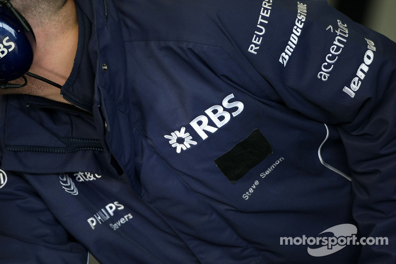 Williams F1 Team, have a sticker over a sponsers name
