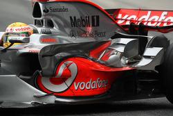 Lewis Hamilton, McLaren Mercedes, detail