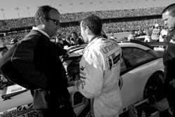Jacques Villeneuve with crew chief Richard 'Slugger' Labbe