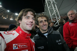 Sébastien Loeb y Alain Prost