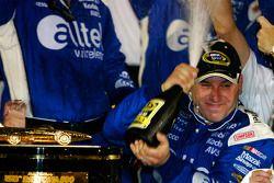 Victory lane: race winner Ryan Newman celebrates