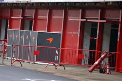 McLaren boxes at the end of the pits