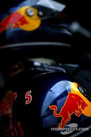 Red Bull racing mechanic's helmet