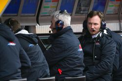 Geoff Willis, Red Bull Racing, Technical Director and Christian Horner, Red Bull Racing, Sporting Di