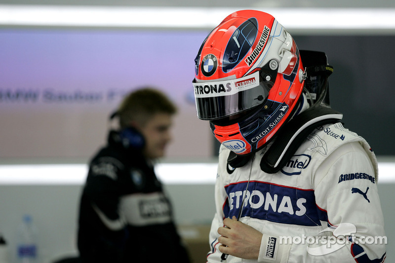 Robert Kubica, BMW Sauber F1 Team, Pitlane, Box, garajı