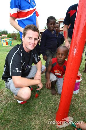 Jonny Reid, driver of A1 Team New Zealand, Food4Africa, Mount Moriah Ministries Care and Support Cen