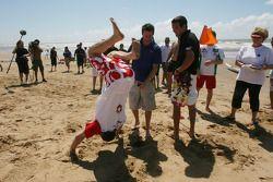 Marcel Fassleri, driver of A1 Team Switzerland wins the Beach Challenge