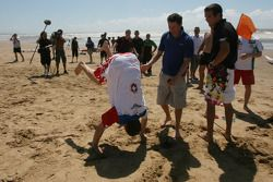 Marcel Fassler, driver of A1 Team Switzerland wins the beach chellenge