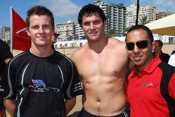 Jonny Reid, driver of A1 Team New Zealand with Khalil Beschir, driver of A1 Team Lebanon