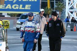 Kurt Johnson, Justin Belfance looking over track