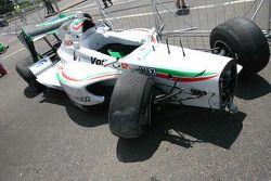 David Garza, driver of A1 Team Mexico crash