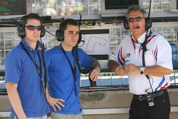 Jonathan Cochet, driver of A1 Team France and Nicolas Prost, driver of A1 Team France