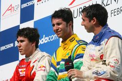 Robert Wickens, driver of A1 Team Canada, Bruno Junqueira, driver of A1 Team Brazil and Neel Jani, driver of A1 Team Switzerland