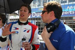 Loic Duval, driver of A1 Team France and Jonathan Cochet, driver of A1 Team France