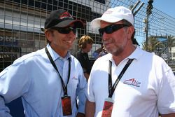 Emerson Fittipaldi, Seat Holder of A1 Team Brazil and Tony Clements, Seat holder of A1 Team Great Britain