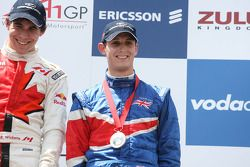 Robert Wickens, driver of A1 Team Canada and Oliver Jarvis, driver of A1 Team Great Britain
