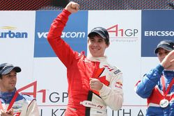 Robert Wickens, driver of A1 Team Canada winner of the sprint race