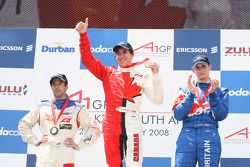 Sprint Race Podium, Neel Jani, driver of A1 Team Switzerland, Robert Wickens, driver of A1 Team Cana