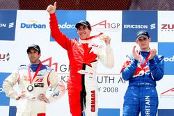 Race winner Robert Wickens, driver of A1 Team Canada, 2nd, Oliver Jarvis, driver of A1 Team Great Br