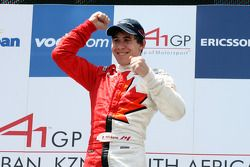 Robert Wickens, driver of A1 Team Canada, winner of the sprint race