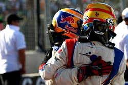 Neel Jani, driver of A1 Team Switzerland and Loic Duval, driver of A1 Team France