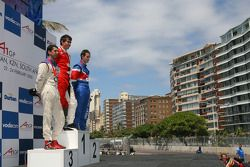 Podium of Sprint Race, Neel Jani, driver of A1 Team Switzerland, Robert Wickens, driver of A1 Team Canada and Oliver Jarvis, driver of A1 Team Great Britain