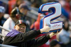A Kurt Busch fan shows his support