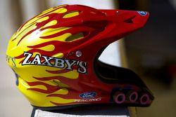 Helmet of a Zaxby's crew member