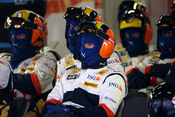 Renault F1 Team mechanics waiting for pitstop