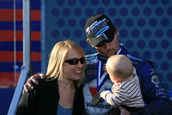 Jack and Jenna Beckman with their son Jason share a moment