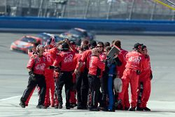 Carl Edwards' crew celebrate victory