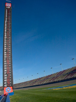 Scoring tower after Tony Stewart wins the Stater Bros 300