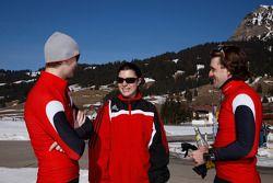 Oliver Jarvis, Katherine Legge and Markus Winkelhock
