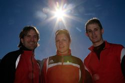 Markus Winkelhock, Katherine Legge and Oliver Jarvis