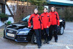 Katherine Legge, Markus Winkelhock and Oliver Jarvis