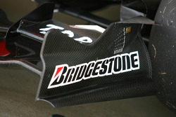New GP2 car front wing detail