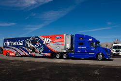 The Citifinancial team hauler makes its' way into the Las Vegas Motor Speedway