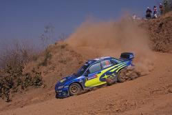 Крис Эткинсон и Стефан Прево, Subaru World Rally Team, Subaru Impreza WRC2007
