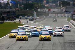 Start, Yvan Muller, SEAT Sport, SEAT Leon TDI, Rickard Rydell, SEAT Sport, SEAT Leon TDI