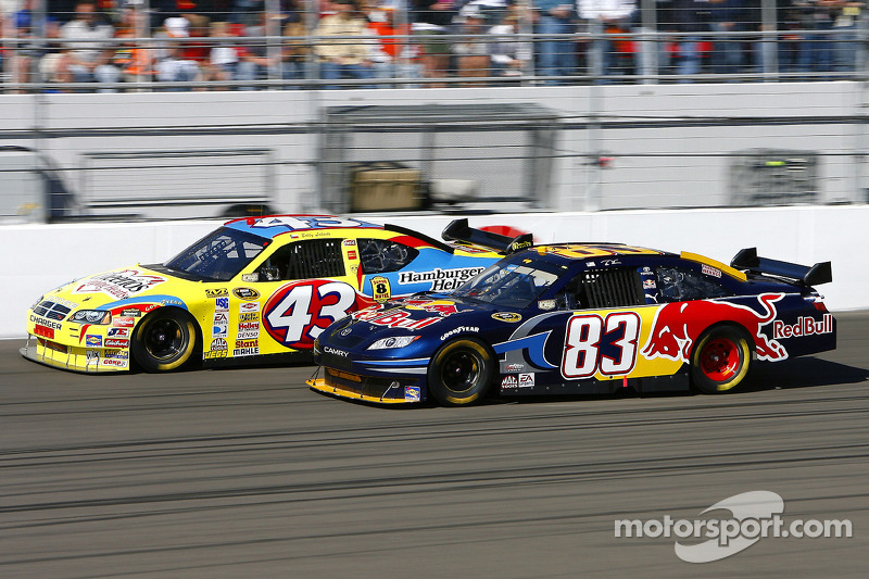 Brian Vickers and Bobby Labonte at Las Vegas