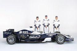 Kazuki Nakajima, Nico Hulkenberg ve Nico Rosberg ve yeni Williams FW30