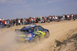 Chris Atkinson and Stéphane Prévot, Subaru World Rally Team, Subaru Impreza WRC2007