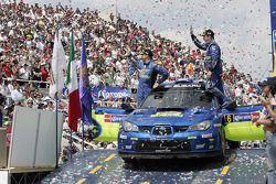 Podium: second place finishers Chris Atkinson and Stéphane Prévot