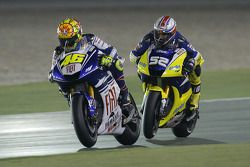Valentino Rossi and James Toseland