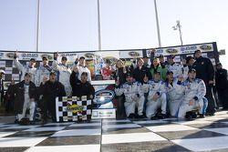 Victory lane: race winner Matt Kenseth celebrates with his team