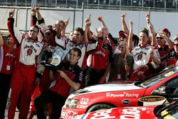 Jim Beam Racing team celebrate