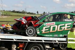 Steven Richards wreckage (Ford Performance Racing Ford Falcon BF)