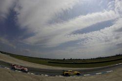 #3 Corvette Racing Chevrolet Corvette C6R: Johnny O'Connell, Jan Magnussen, Ron Fellows, #27 Horag Racing Porsche RS Spyder: Fredy Lienhard, Didier Theys, Jan Lammers