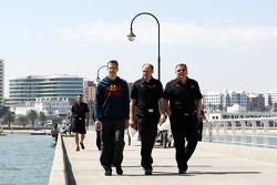 Sébastien Bourdais, Scuderia Toro Rosso, Franz Tost, Scuderia Toro Rosso, Team Principal, Gorgio Ascanelli Technical Director, Scuderia Toro Rosso