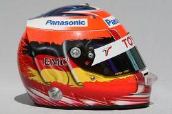 Timo Glock, Toyota F1 Team,, kask
